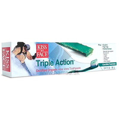 Kiss My Face, BIO bieliaca zubná pasta Triple Action 96 g