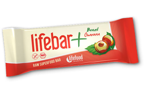 Lifefood, Tyčinka Lifebar plus brazil a guarana BIO 47 g
